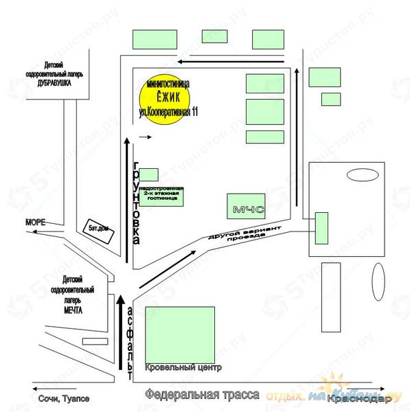 Схема проезда к мини-гостинице