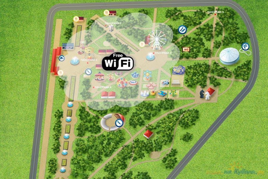 Схема краснодара парки